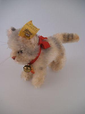 Steiff Katze Tabby 2700/10 komplett mit KFS 1968 - 1976 (467)