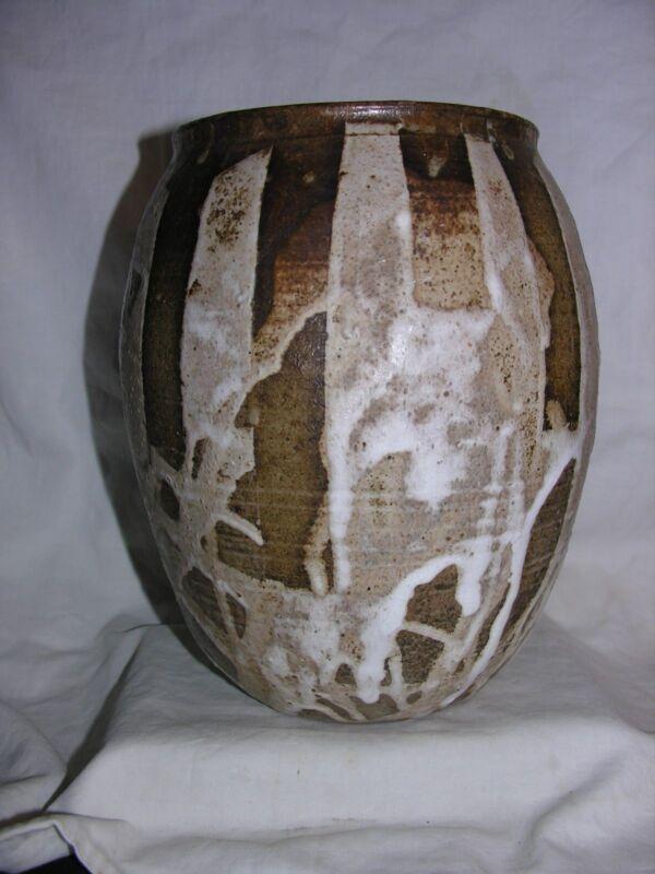 Vintage Stoneware Vase Unique Signed Glover