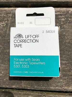 Sears 54009 Lift-off Typewriter Correction Tape Use With 5301 5303