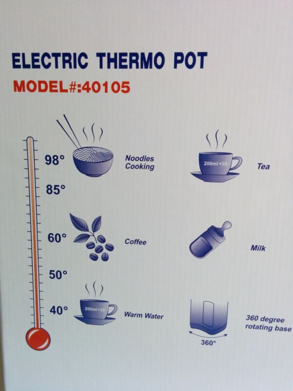 5 temperature pre-sets are ideal for a variety of uses