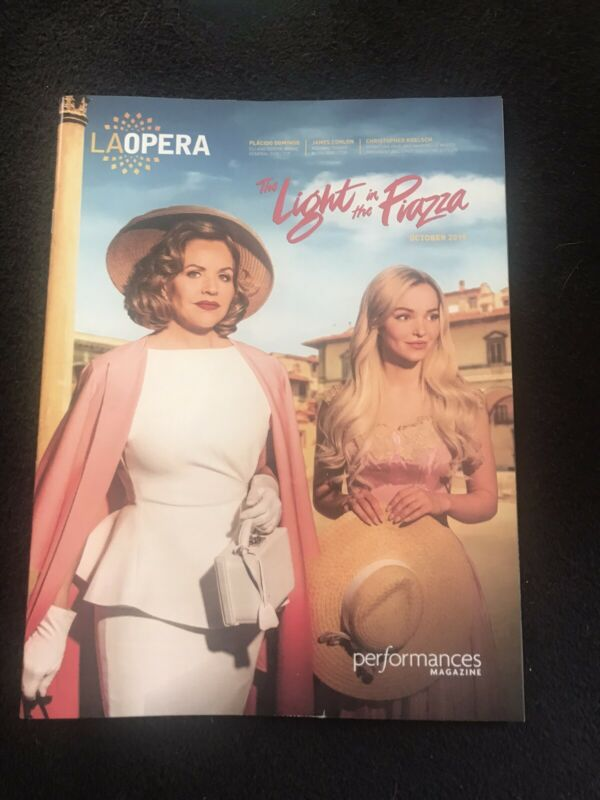 "New Rare LA Opera ""LIGHT IN THE PIAZZA"" Program Renee Fleming Dove Cameron B.S.M"
