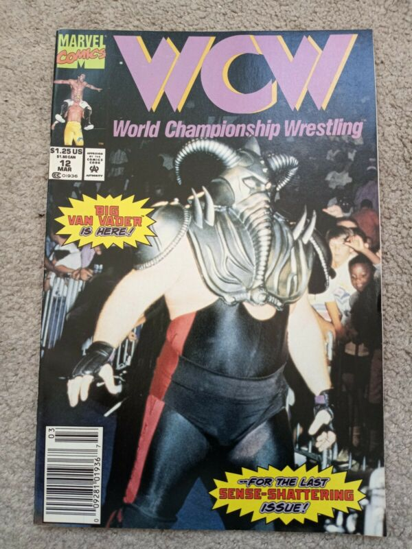 WCW WORLD CHAMPIONSHIP WRESTLING # 12 vf+ MARVEL COMICS 1992 NEWSSTAND HTF