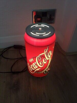 VINTAGE COCA-COLA CAN FIZZING MOVING SPARKLING LAMP ELECTRIC  MAN CAVE LOOK!