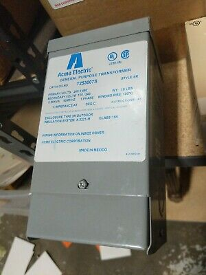 Acme Electric T253007s General Purpose Transformer 120240v 1 Phase New