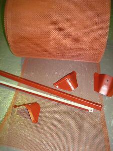 GUTTER GUARD DIY KIT SUITS METAL ROOF ALUMINIUM 250mm MESH-TRIM-SADDLES- SCREWS