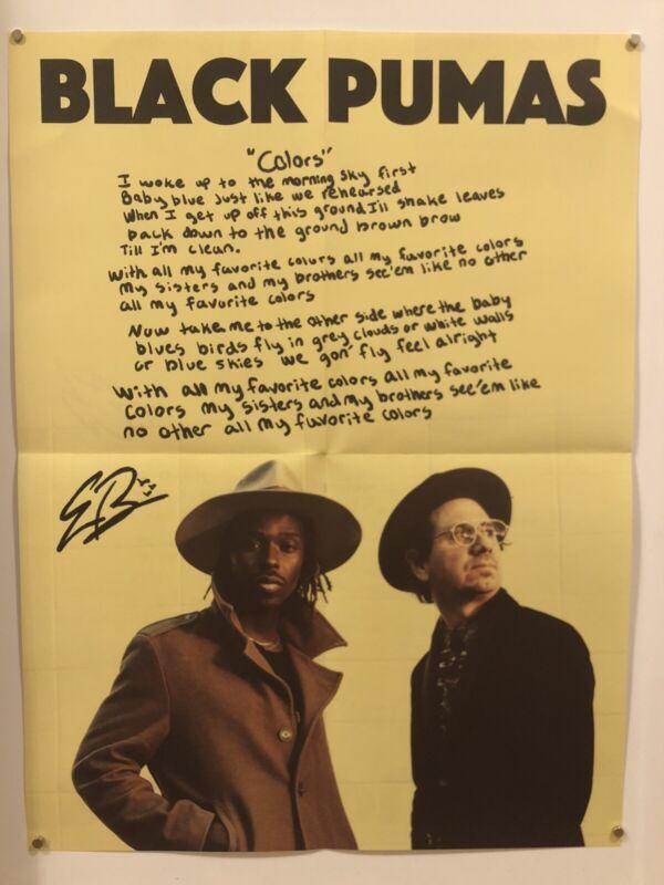 BLACK PUMAS Promo Poster RARE