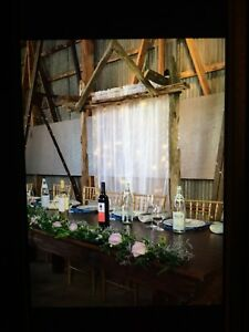 Rustic Wedding Headtable Backdrop