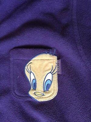 Vintage Looney Tunes Warner Bros. Tweety - Purple -Button Up -Fleece -26w/28w Tweety Fleece