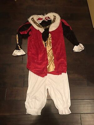 Royalty King Halloween Costume Complete w/ Top And Bottoms. Heavy Duty material!