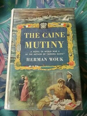 Vintage Navy ship nautical book The Caine Mutiny 1951 Herman wouk color jacket
