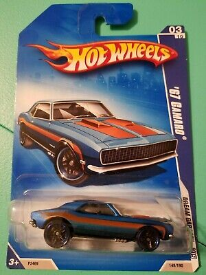 Hot Wheels '67 Camaro Satin Blue 2009 Dream Garage New on Card READ DETAILS