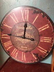 Grand Hotel 58 Rue Montmartre. 58 Paris Rustic Distressed Wall Style Clock