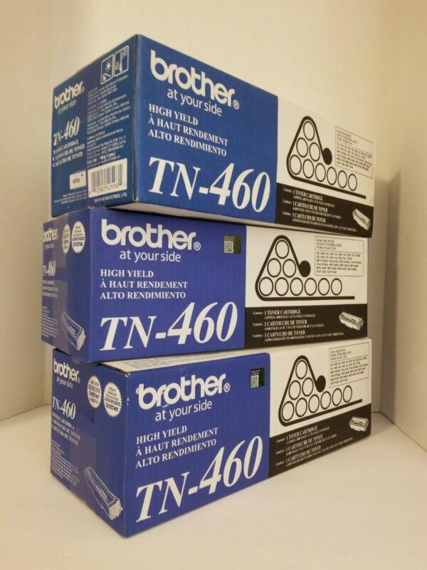 Genuine Brother TN-460 High Yield Toner Cartridge LOT OF 3