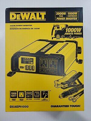 DeWALT DXAEPI1000 1000W 3.1Amp USB Port Car Converter with LCD Display