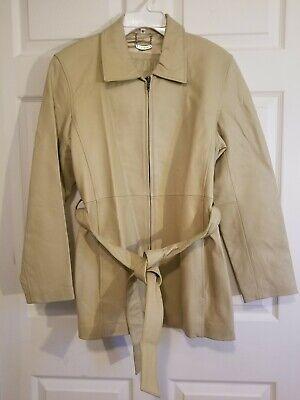 Vintage Women PATRINI Leather Jacket with belt size M