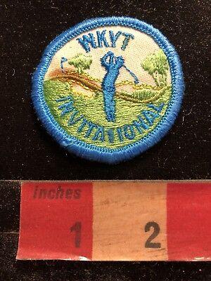 Vintage Lexington Kentucky Local Cbs Tv Station Wkyt Golf Invitation Patch 83Ye