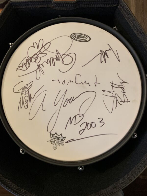 """No Doubt Signed 13"""" Drum Gwen Stefani, Adrian Young & 3 More COA With Case"""