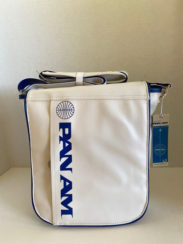 "PAN AM Originals ""UNI Reloaded"" Bag Certified Vintage Style Pan Am White"