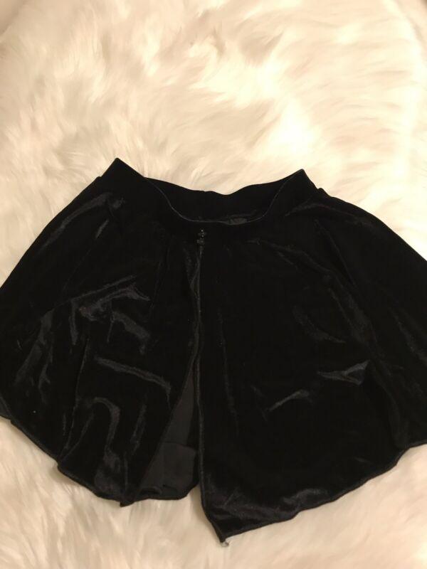 Body Wrappers Skirt Tutu Black Velvet Girls 8-10 Dance