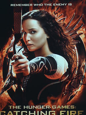 Jennifer Lawrence Hand Signed 8X10 Photo From  Catching Fire  W Coa