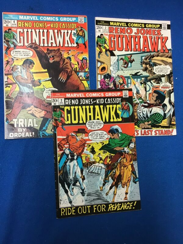 Marvel Bronze Age Westerns: Gunhawks Comic Lot (3) VF
