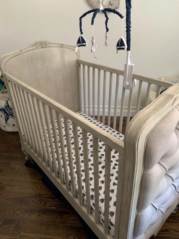 Restoration Hardware Collette Crib & Toddler Conversion Kit- Antique Grey Mist