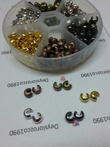1box smooth mixed color bead knot cover