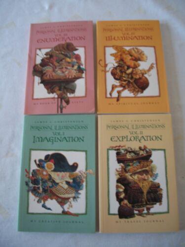 Set of Four (4) GWS Artist James Christensen Personal Illuminations Vols. I - IV