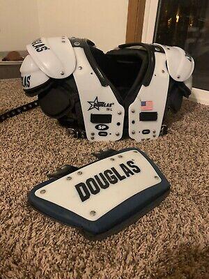 Adult 2016 Douglas SP Football Shoulder Pads Size Large With Back Plate QB/WR/RB Adult Football Shoulder Pads