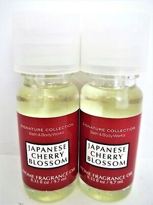 Japanese Cherry Blossom Fragrance Oil (Bath Body Works Signature JAPANESE CHERRY BLOSSOM Home Fragrance Oil, NEW x 2 )