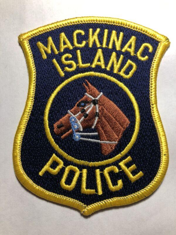 RARE ~ Mackinaw Island Michigan Police Patch ~ New Condition