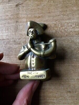 Vintage Brass Door Knocker Corn Exchange Figure Small Antique