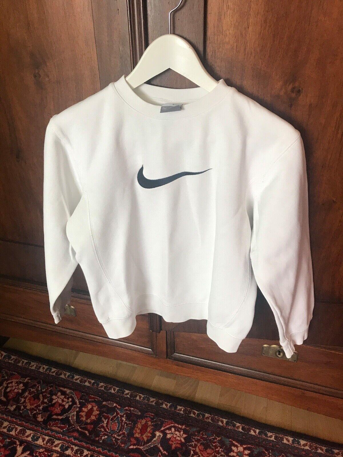 Sportpulli Nike Kinder Gr.128-140 weiß Top Zustand Baumwolle