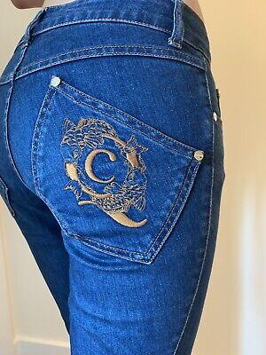Alexander McQueen Women's Jeans Blue Vintage Size 38 Great Back Logo