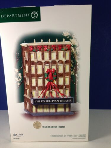 Dept 56 CIC Christmas in the City THE ED SULLIVAN THEATER 56.59233 NEW & RARE!