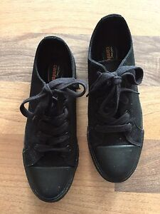 Ladies non slip black work shoes from Payless