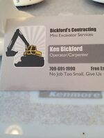 Bickford's contracting - mini excavation