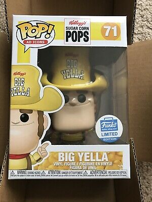 FUNKO POP BIG YELLA #71 KELLOGG'S SUGAR CORN POPS AD ICONS SHOP EXCLUSIVE W/box