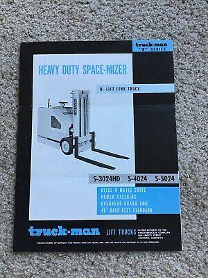 1960s Truck-man Lift Trucks S-series Original Sales Literature.