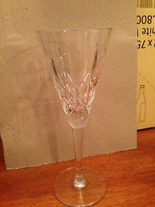 cross and olive crystal champagne glasses