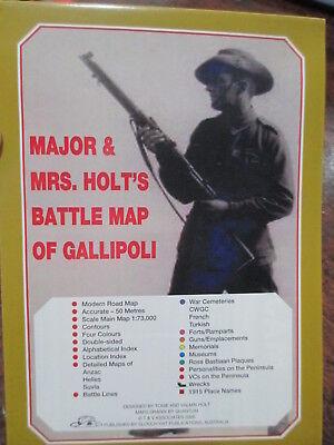 Major & Mrs Holt's Battle Map of the Gallipoli WW1 Battlefield includes Anzac