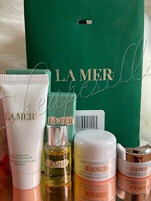 La Mer 4pc Set- Soft Cream, EYe Balm Intense, Renewal Oil, Revitalizing Mask-NIB