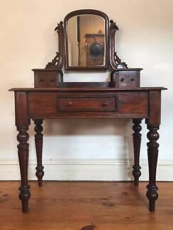 Vintage ANTIQUE 1880s Victorian Red CEDAR DRESSER Desk