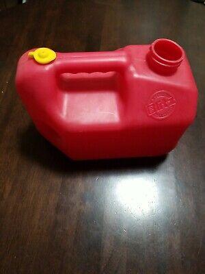 Vintage Blitz 1 Gallon 4oz Pre Ban Vented Easy Grip Red Plastic Gas Can Pre Mix