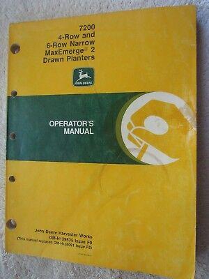 John Deere 7200 Maxemerge 2 Drawn 4 6-rn Planter Operators Manual Om-h139535