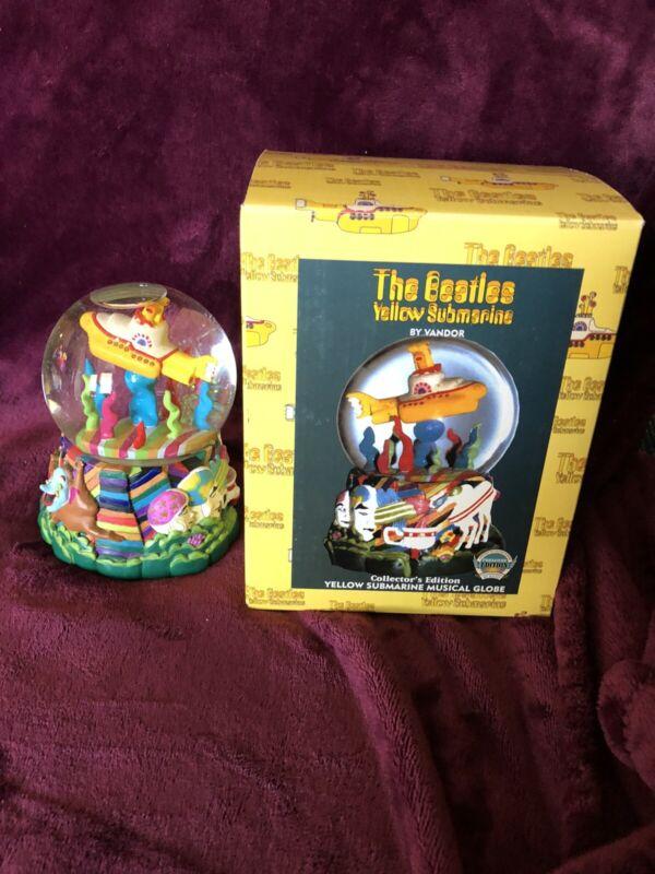 BEATLES Yellow Submarine Musical Globe NEW IN BOX 1999 Vandor