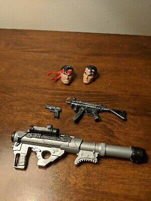 Marvel Legends Punisher retro heads and 1:12 weapons lot