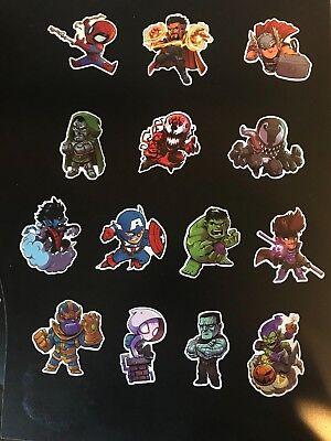 Marvel Avengers Infinity War X-Men Venom Cap Phone Laptop Decal Stickers](Marvel Stickers)