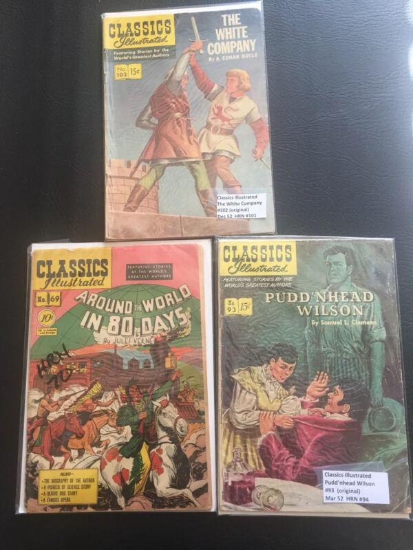 Classic Illustrated Comics Lot of 3:  #
