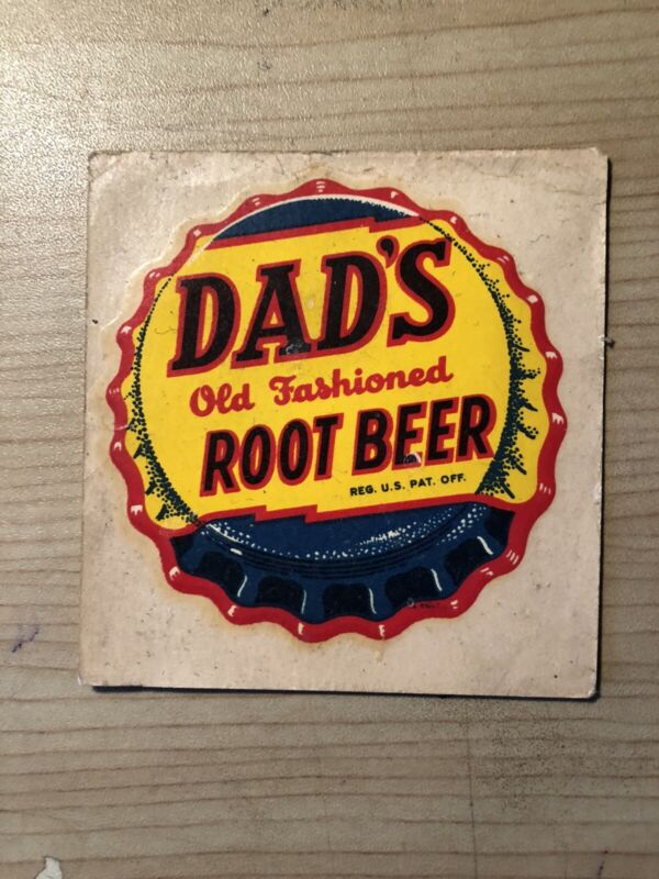 1948 Dad's Root Beer 2 1/2 x 2 1/2 inch Decal / Transfer